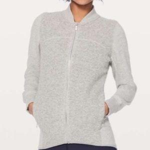 Lululemon Sweatshirt Grey Zip Up